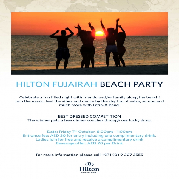 Hilton Fujairah Beach Party