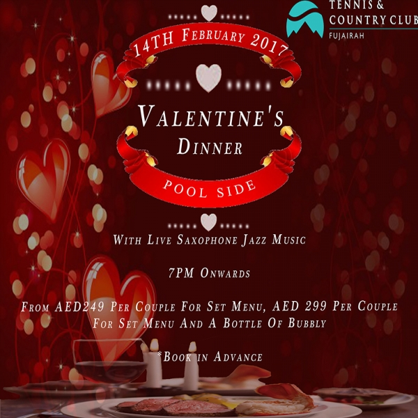 Valentine's Dinner - Tennis & Country Club Fujairah