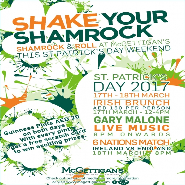 Shake your shamrock - Tennis and country club fujairah
