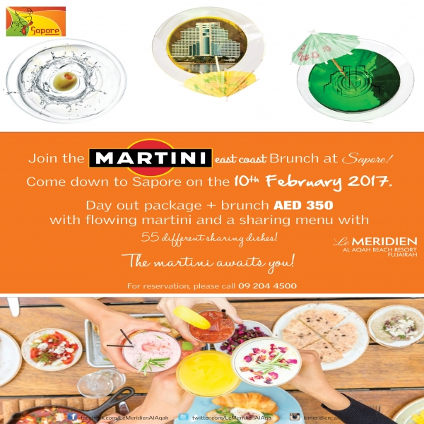 Martini Brunch - Le Meridien Al Aqah Beach Resort, Fujairah