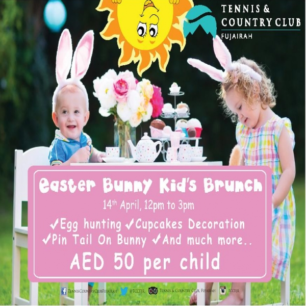 Easter bunny kids brunch - Tennis and country club fujairah