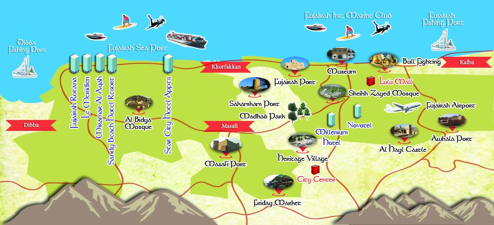 Fujtown 1 Fujairah Directory Tourism Packages